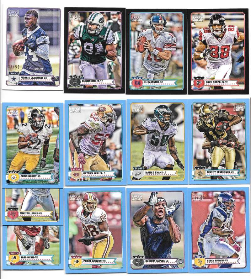 2012 Topps Magic Mini Football Parallel lot (13 cards see pic)