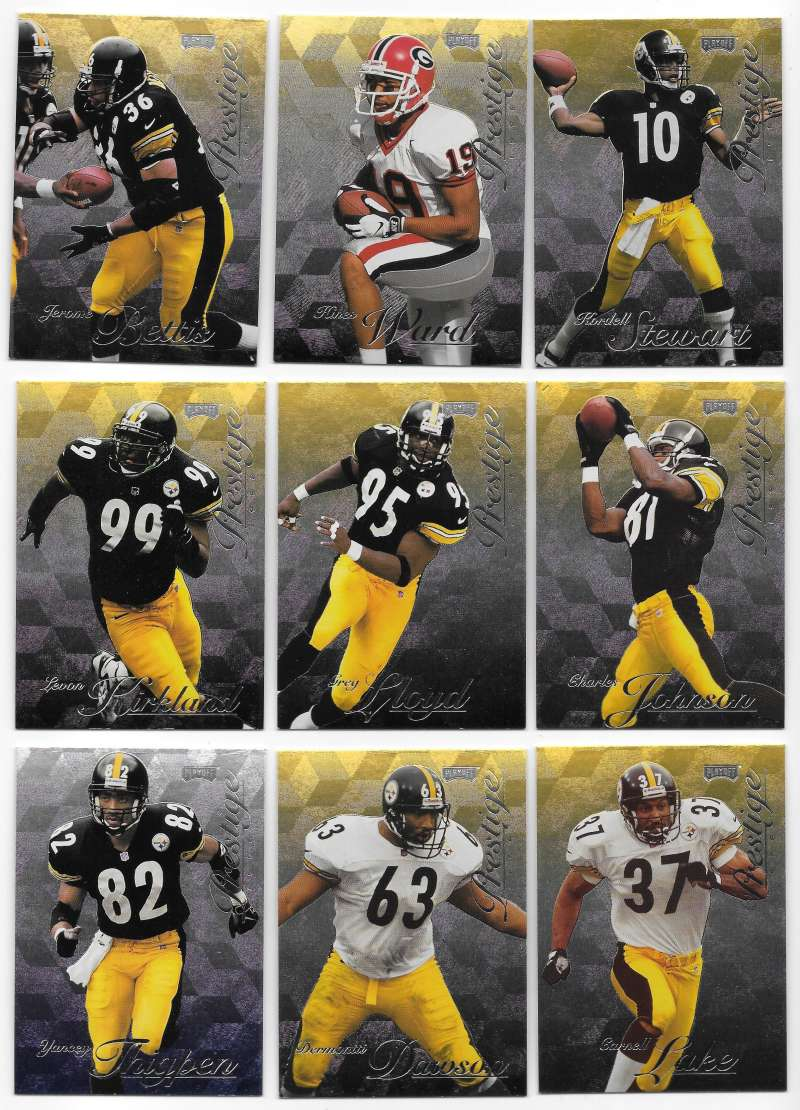 1998 Playoff Prestige Hobby Football Team Set - PITTSBURGH STEELERS