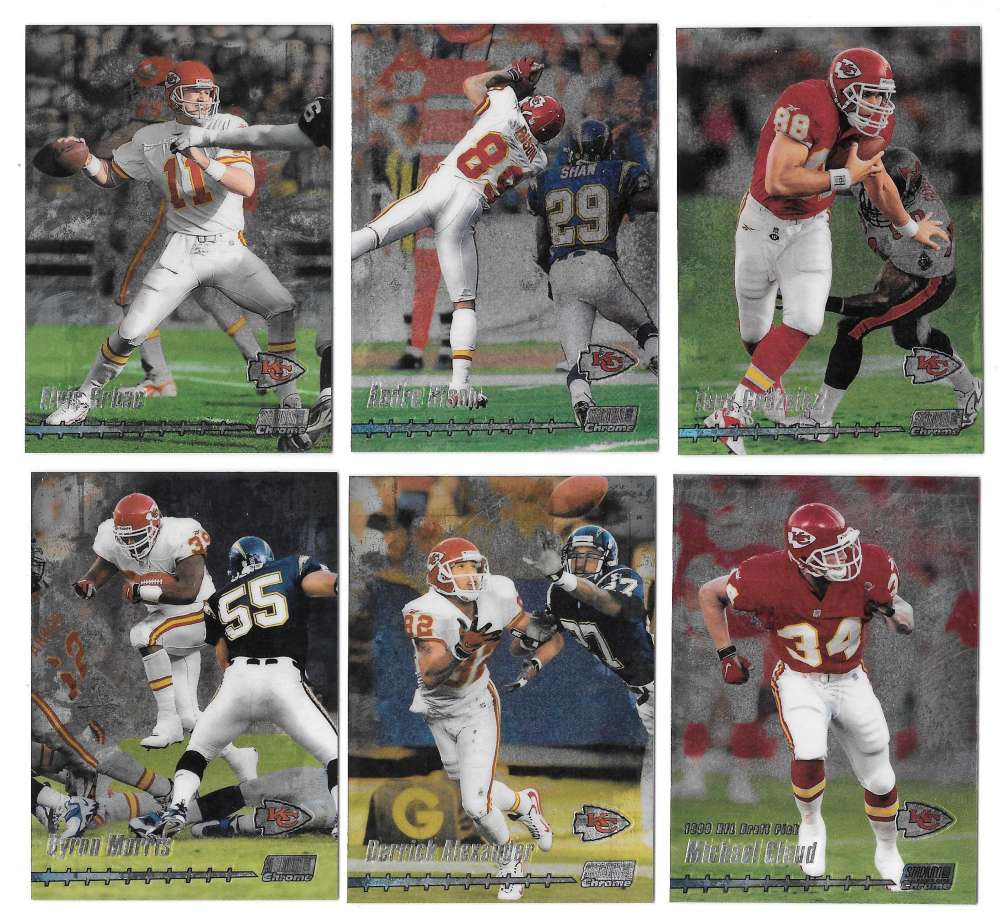 1999 Topps Stadium Club Chrome Football - KANSAS CITY CHIEFS