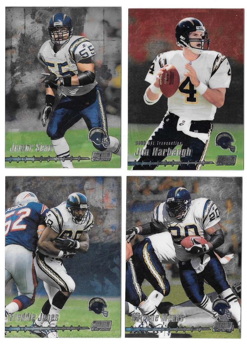 1999 Topps Stadium Club Chrome Football - SAN DIEGO CHARGERS
