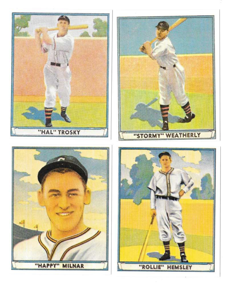 1941 Play Ball Reprints - CLEVELAND INDIANS Team Set