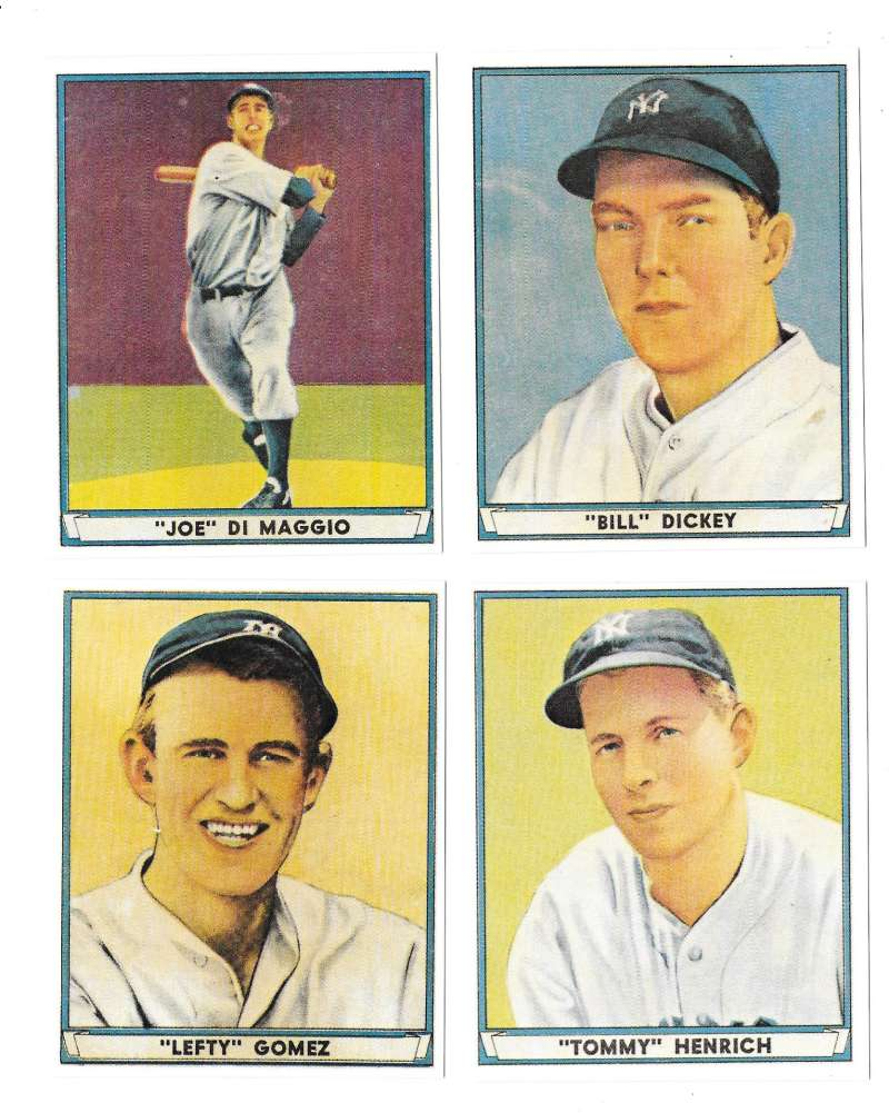 1941 Play Ball Reprints - NEW YORK YANKEES Team Set