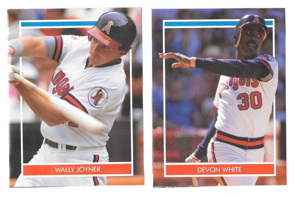 1990 Hottest Players Stickers - CALIFORNIA ANGELS