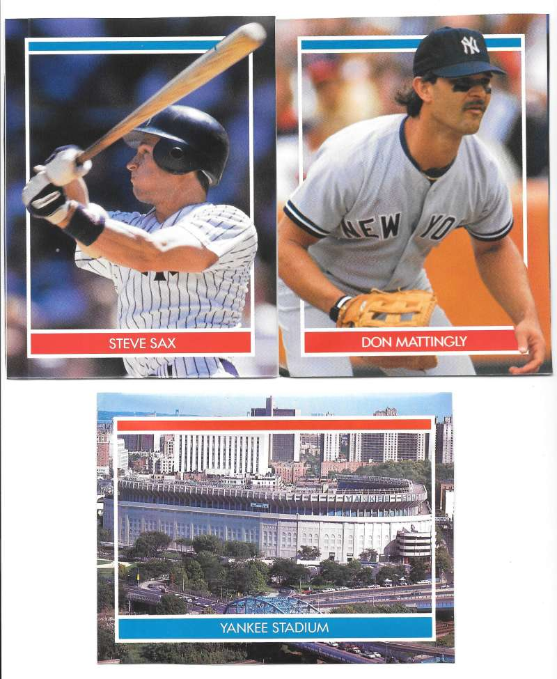 1990 Hottest Players Stickers - NEW YORK YANKEES