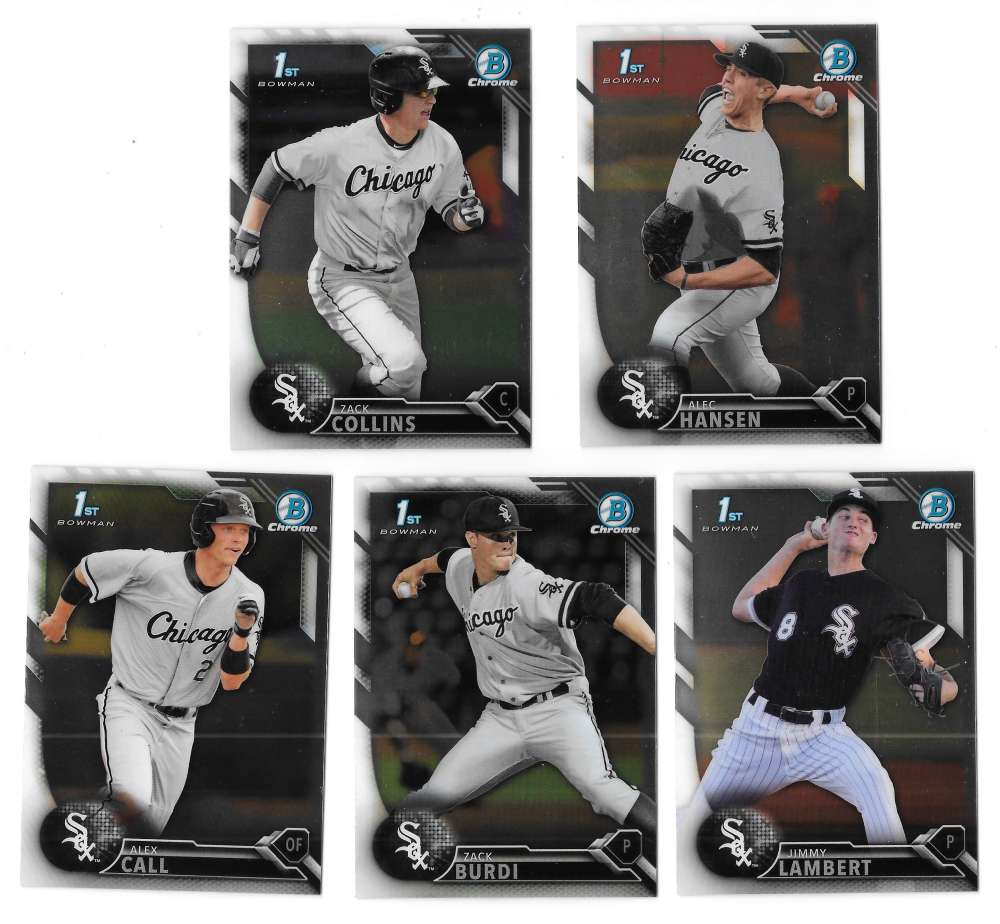 2016 Bowman Chrome Draft - CHICAGO WHITE SOX Team Set