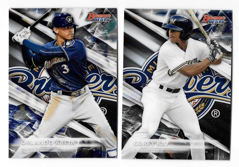 2016 Bowman's Best Top Prospects - MILWAUKEE BREWERS