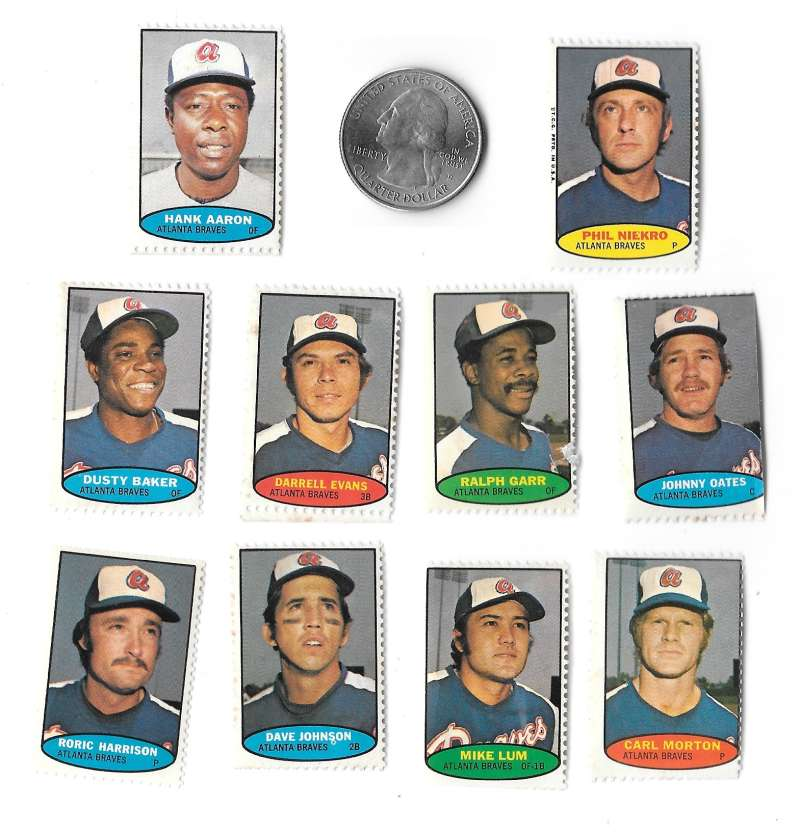 1974 Topps Stamps ATLANTA BRAVES Team Set