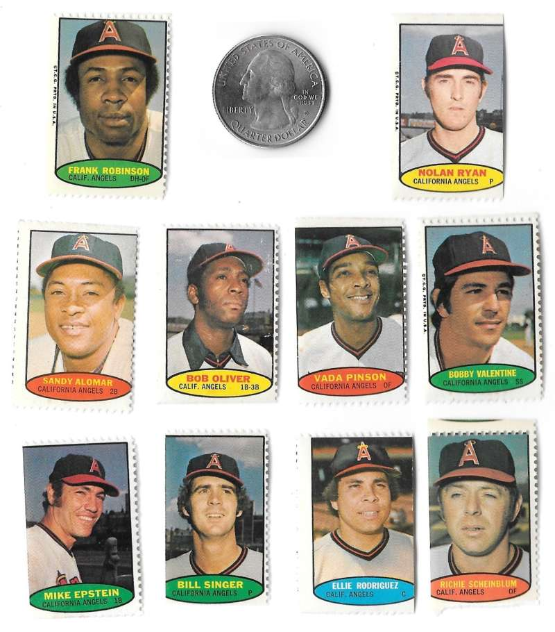 1974 Topps Stamps CALIFORNIA ANGELS Team set