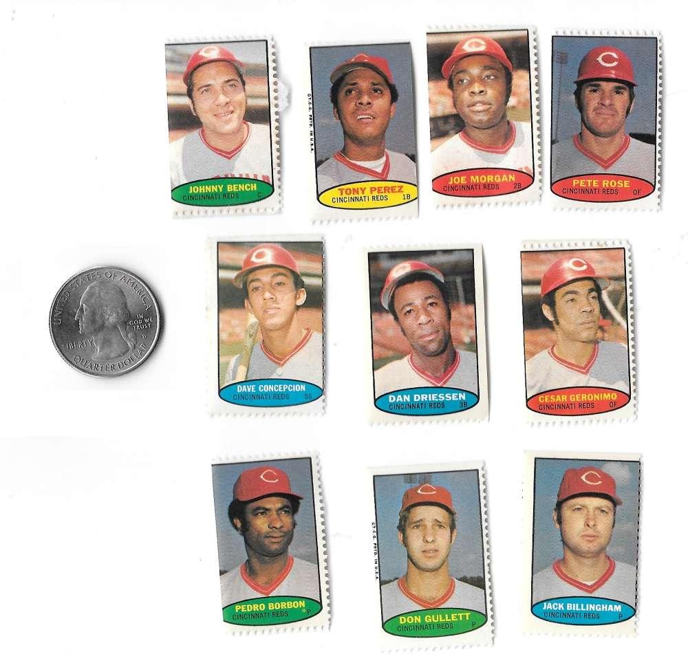 1974 Topps Stamps CINCINNATI REDS Team Set