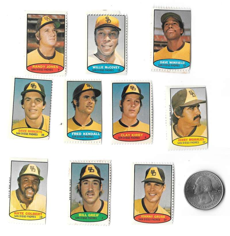 1974 Topps Stamps SAN DIEGO PADRES Team Set