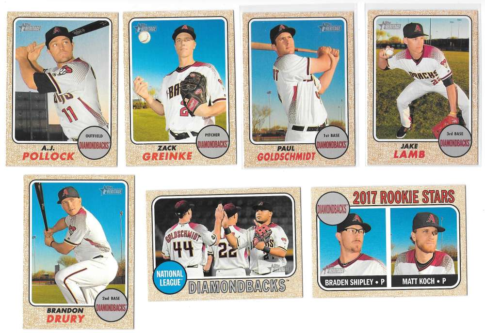 2017 Topps Heritage (1-500) - ARIZONA DIAMONDBACKS Team Set