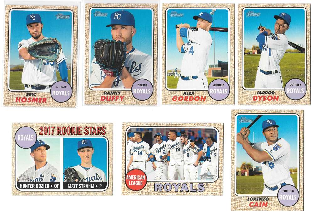 2017 Topps Heritage (1-500) - KANSAS CITY ROYALS Team Set