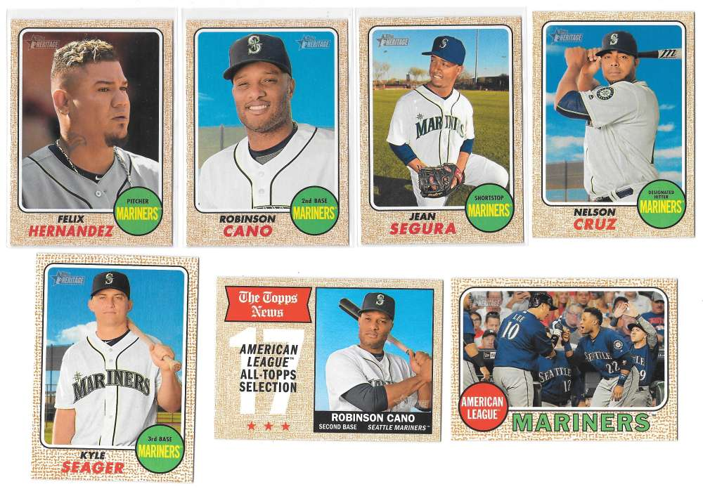 2017 Topps Heritage (1-500) - SEATTLE MARINERS Team Set
