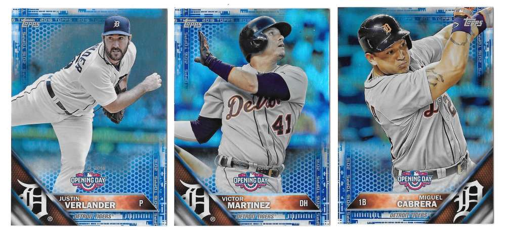 2016 Topps Opening Day Blue Foil - DETROIT TIGERS