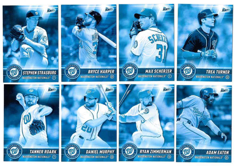 2017 Topps Bunt Blue - WASHINGTON NATIONALS Team set