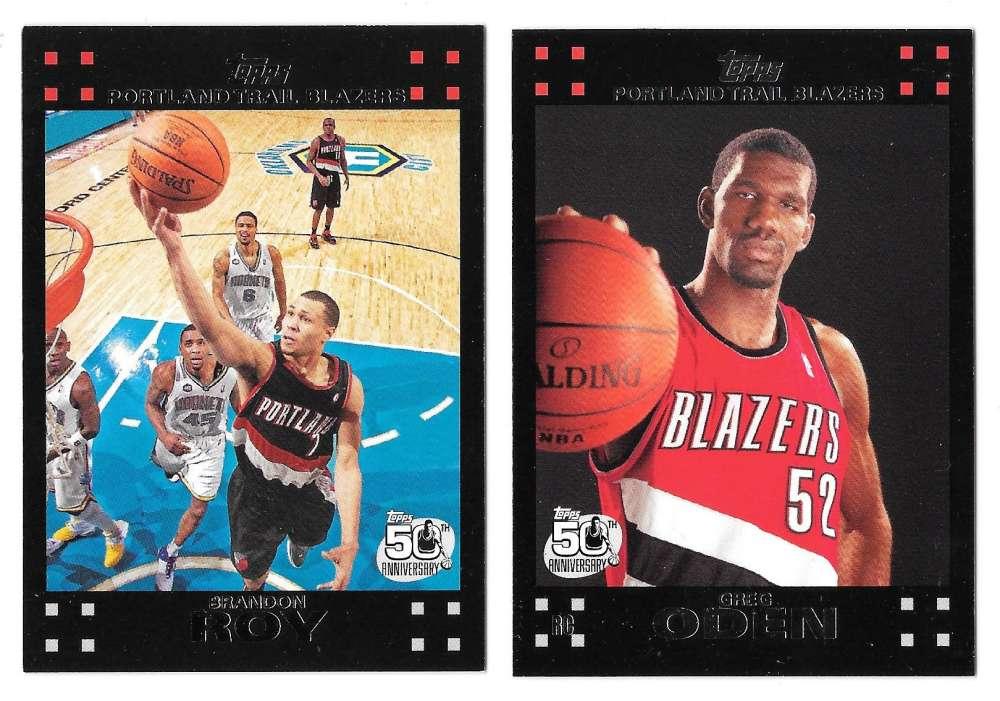 2007-08 Topps Basketball - Portland Trail Blazers