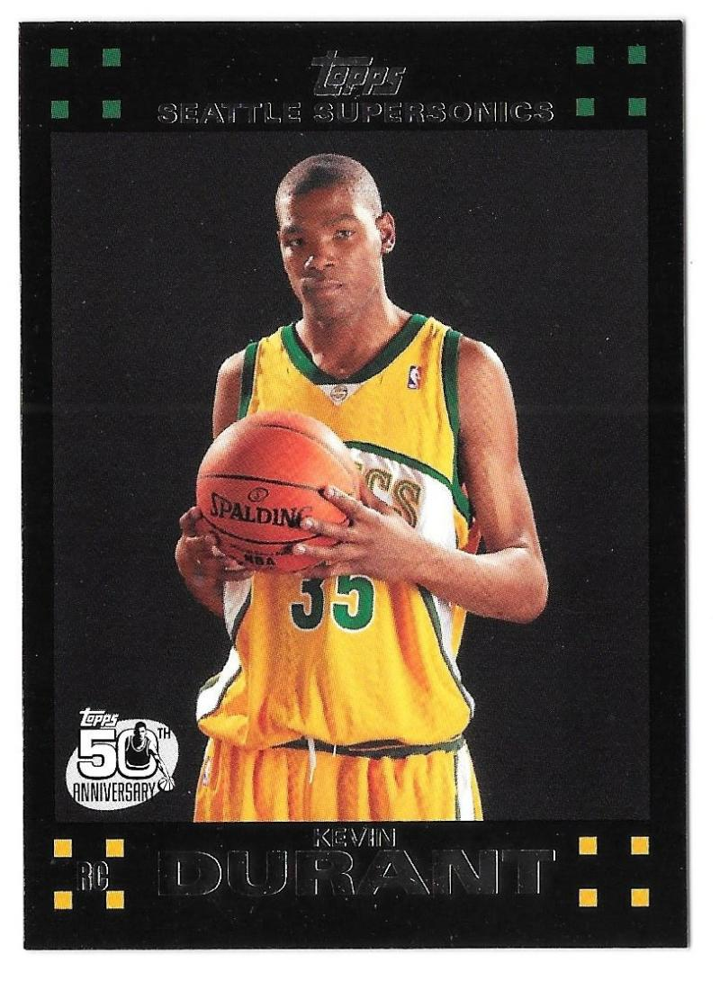 2007-08 Topps Basketball - Seattle Supersonics w/ Kevin Durant RC