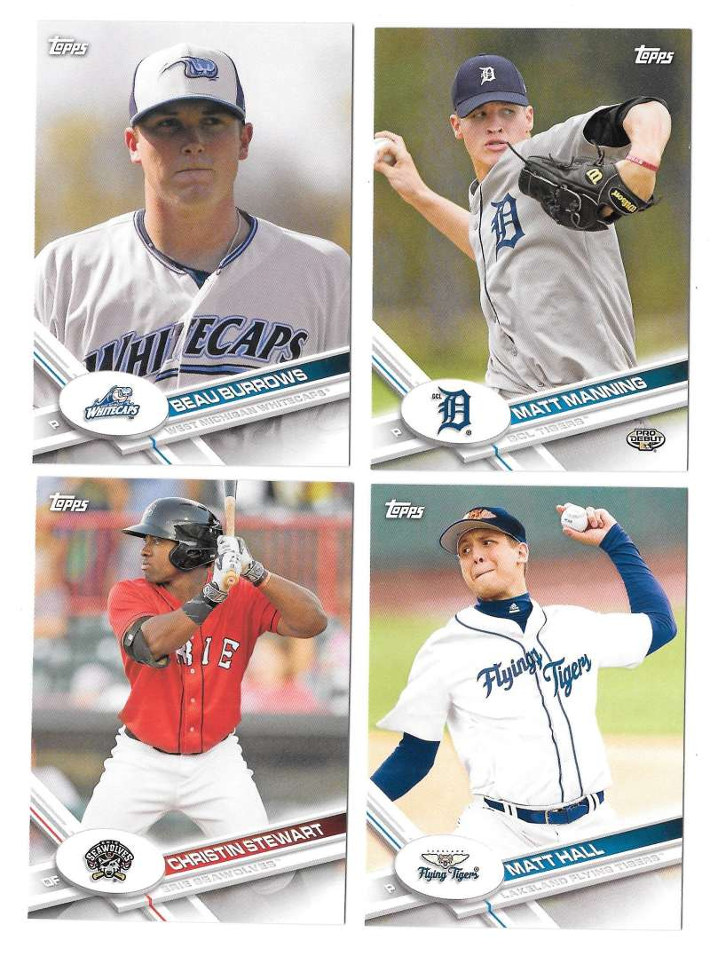 2017 Topps Pro Debut - DETROIT TIGERS Team Set
