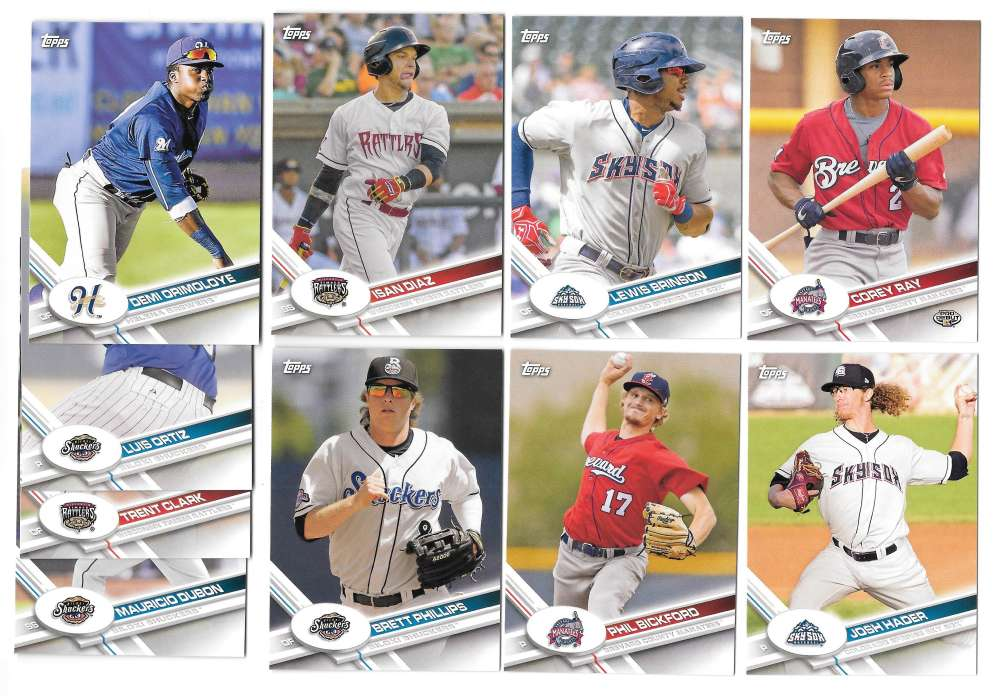 2017 Topps Pro Debut - MILWAUKEE BREWERS Team Set