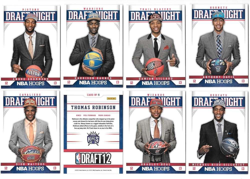 2012-13 Hoops Draft Night 20 card complete insert set