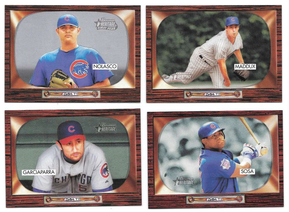 2004 Bowman Heritage w/ SP - CHICAGO CUBS Team Set