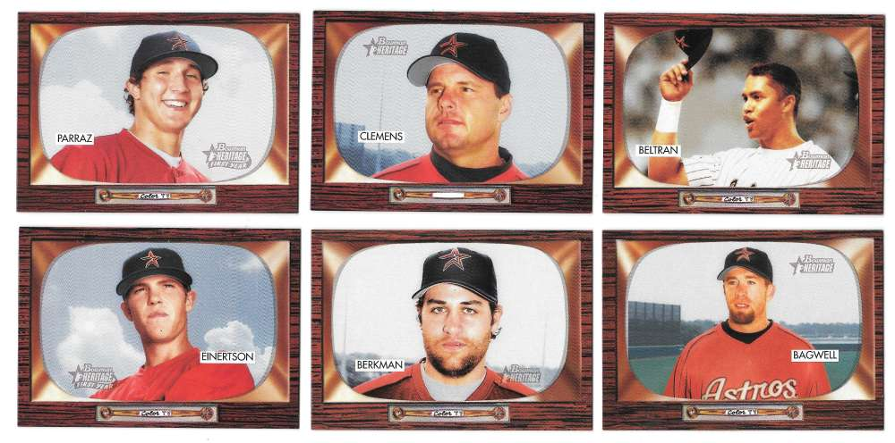 2004 Bowman Heritage w/ SP - HOUSTON ASTROS Team set