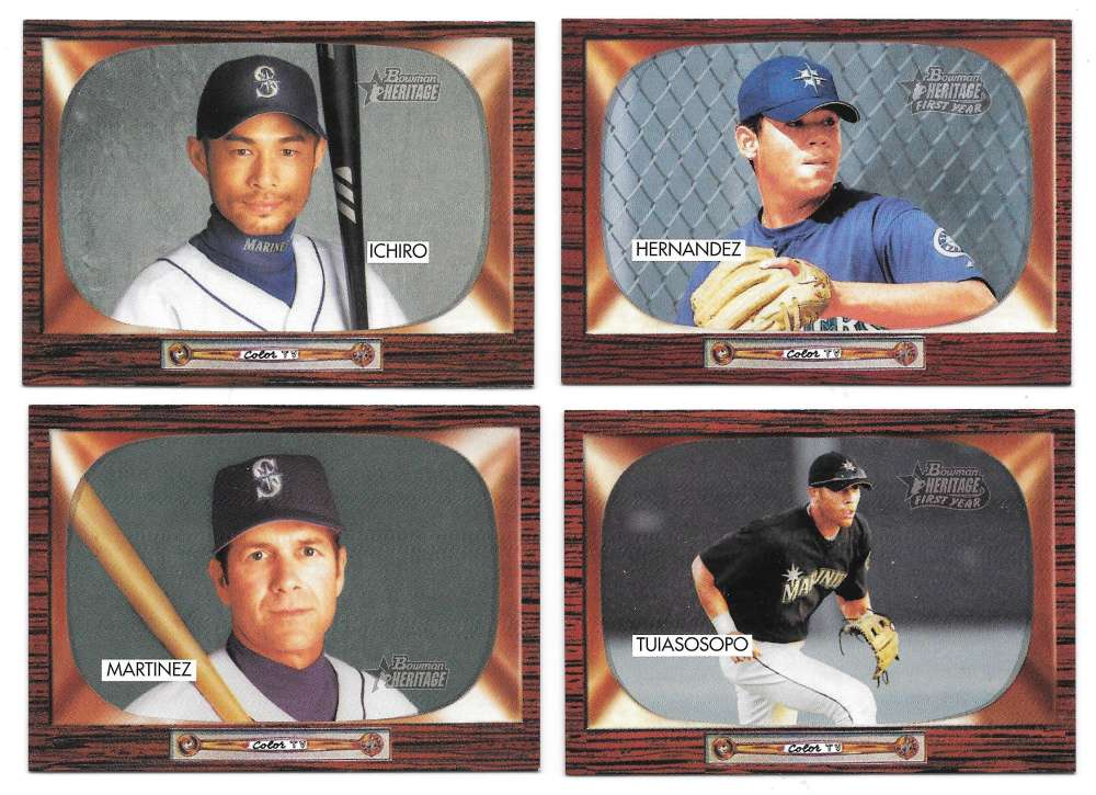 2004 Bowman Heritage w/ SP - SEATTLE MARINERS Team Set