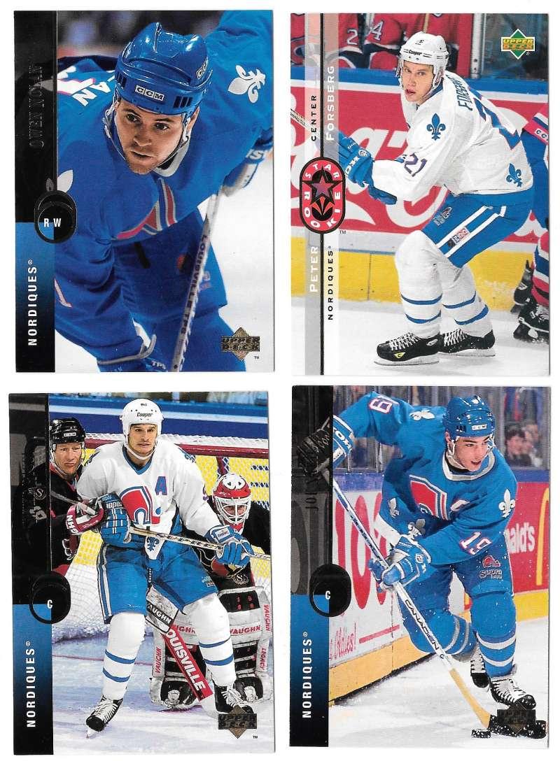 1994-95 Upper Deck Hockey Team Set - Quebec Nordiques