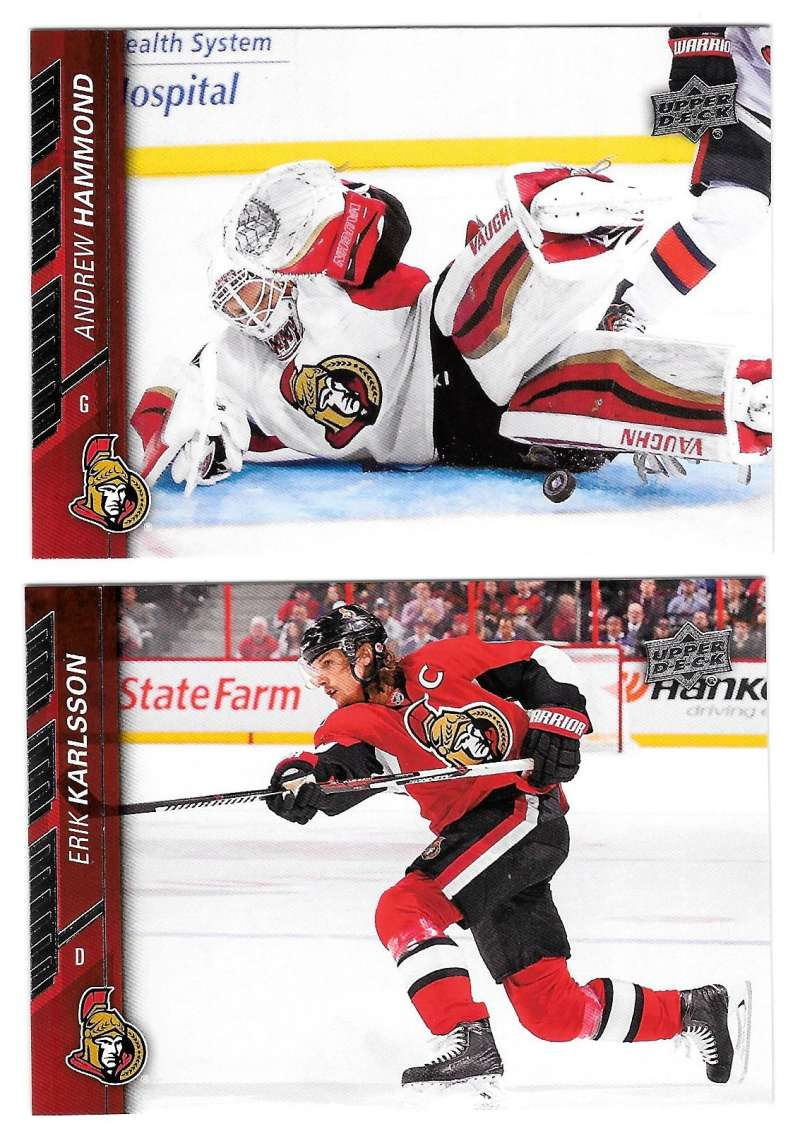 2015-16 Upper Deck (Base) Hockey Team Set - Ottawa Senators
