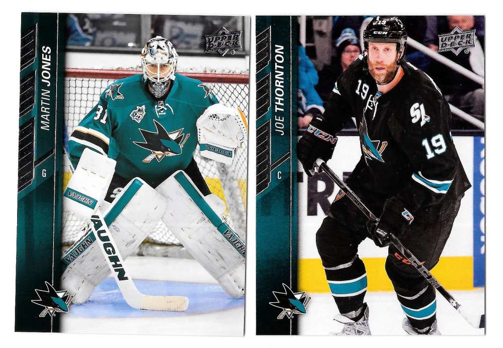 2015-16 Upper Deck (Base) Hockey Team Set - San Jose Sharks