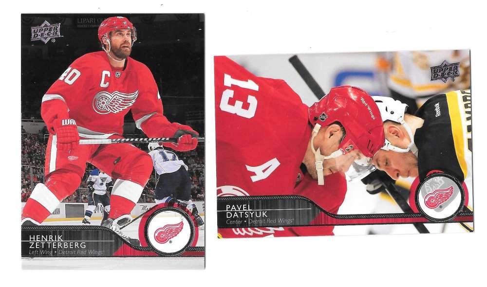 2014-15 Upper Deck (Base) Hockey Team Set - Detroit Red Wings