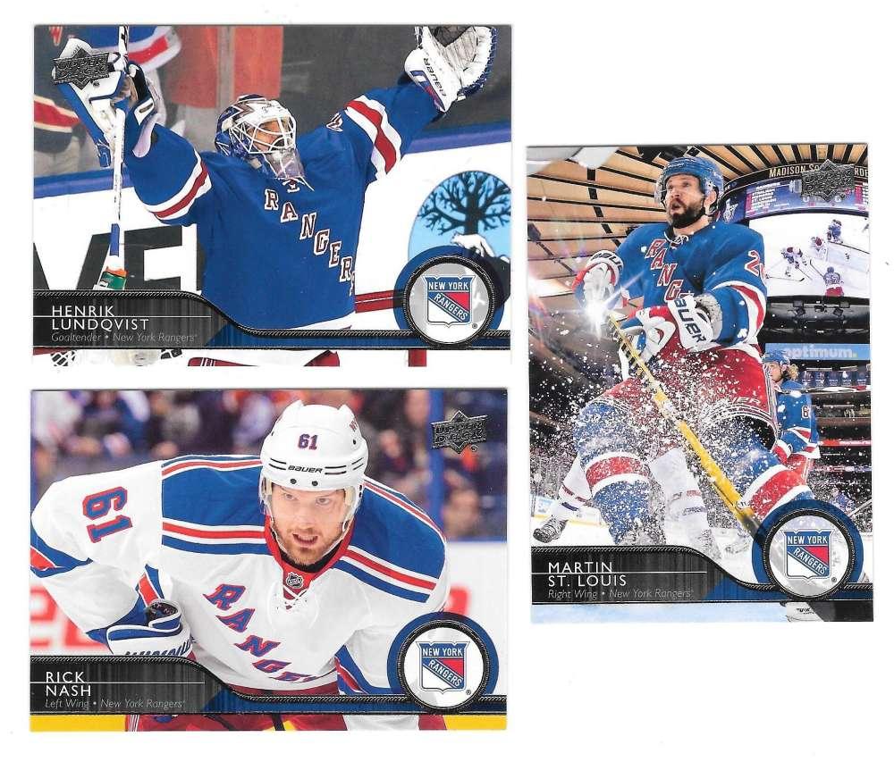 2014-15 Upper Deck (Base) Hockey Team Set - New York Rangers
