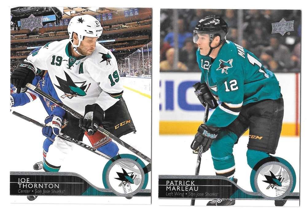 2014-15 Upper Deck (Base) Hockey Team Set - San Jose Sharks