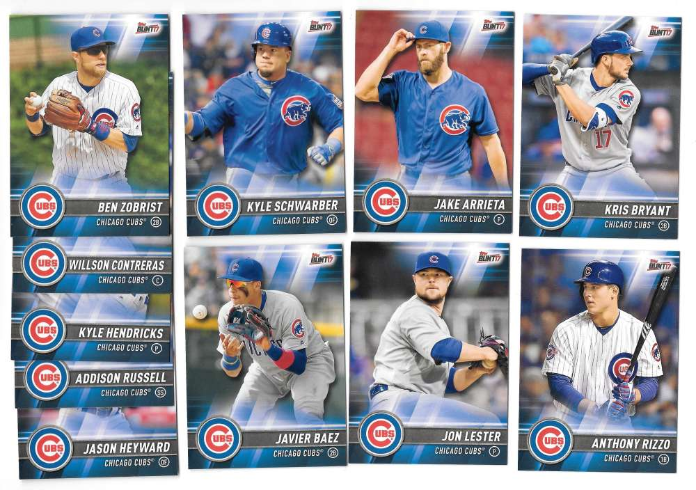 2017 Topps Bunt - CHICAGO CUBS Team Set