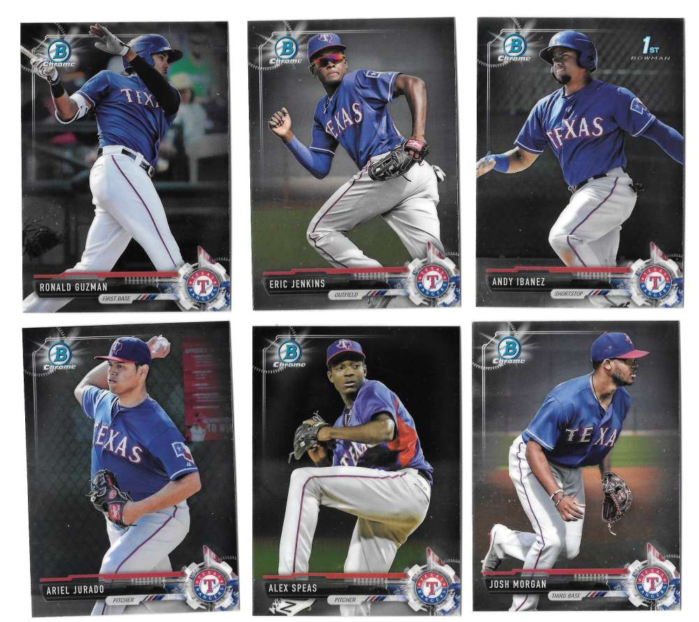 2017 Bowman Chrome Prospects - TEXAS RANGERS