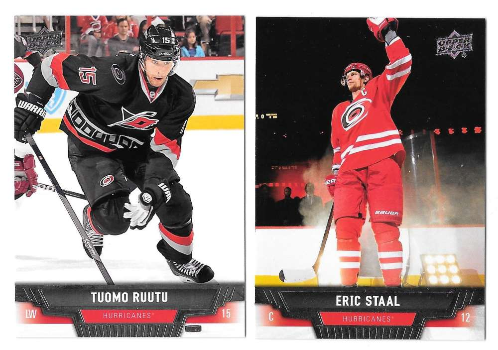2013-14 Upper Deck (Base) Hockey Team Set - Carolina Hurricanes