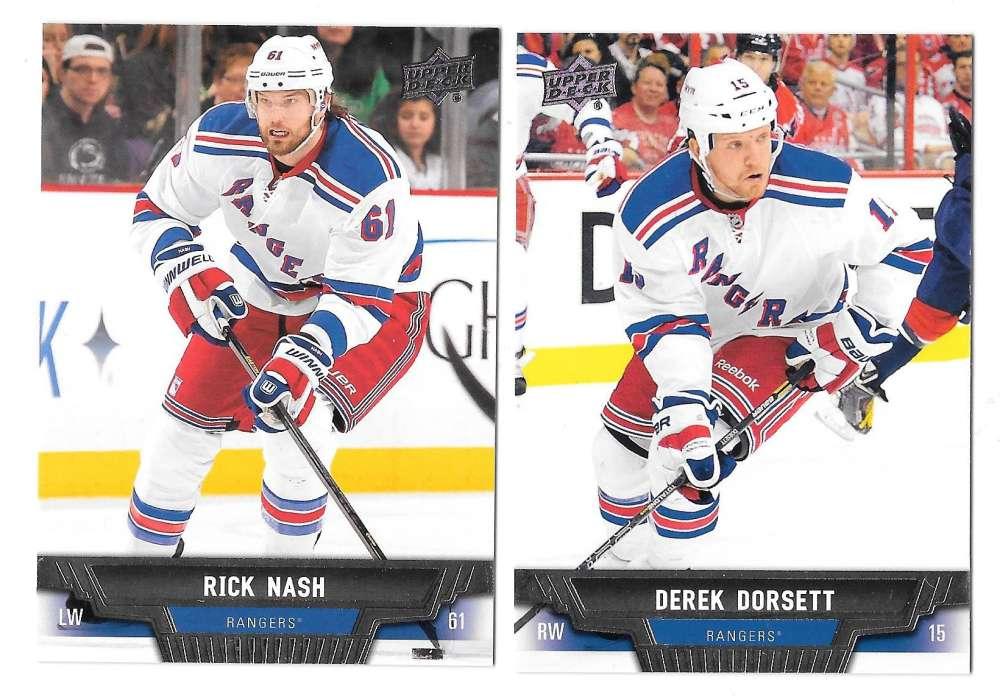 2013-14 Upper Deck (Base) Hockey Team Set - New York Rangers