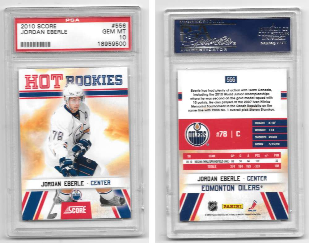 2010-11 Score Hockey 556 Jordan Eberle PSA10 Gem Mint SP Edmonton Oilers