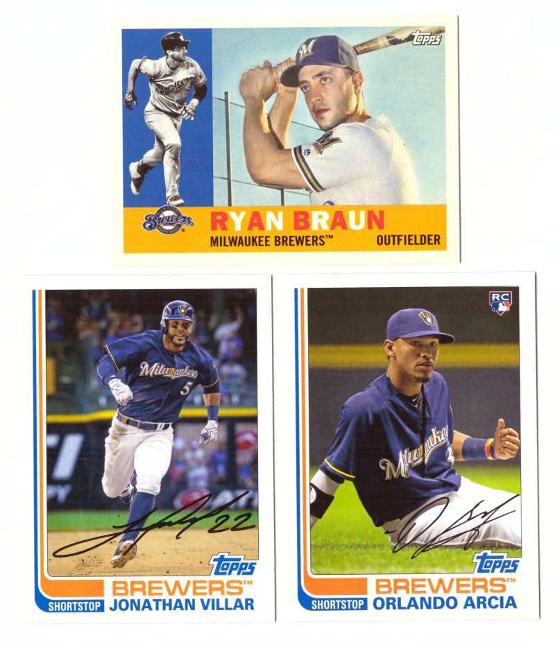 2017 Topps Archives - MILWAUKEE BREWERS Team Set