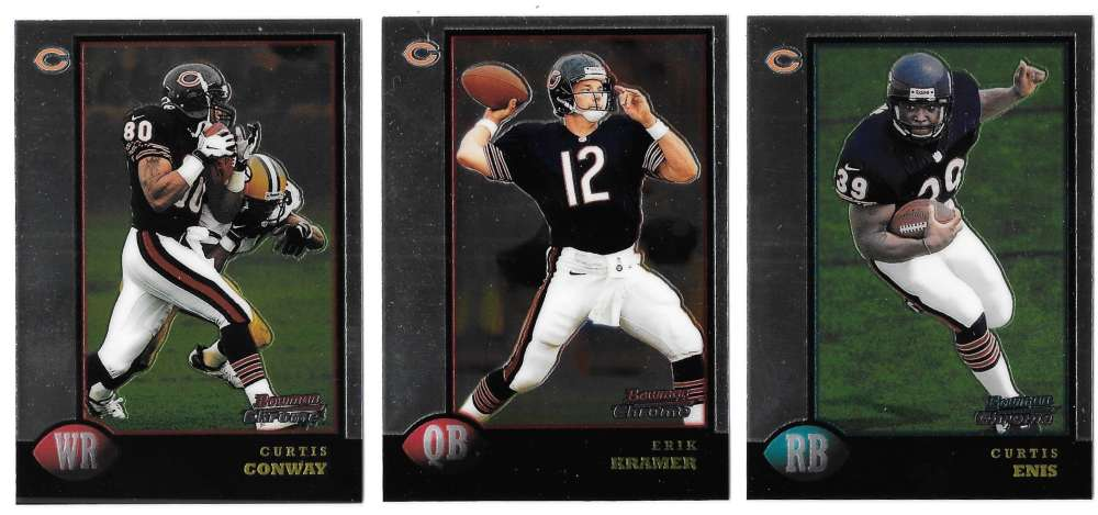 1998 Bowman Chrome Football - CHICAGO BEARS