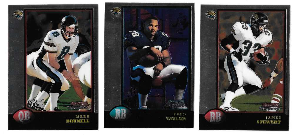 1998 Bowman Chrome Football - JACKSONVILLE JAGUARS