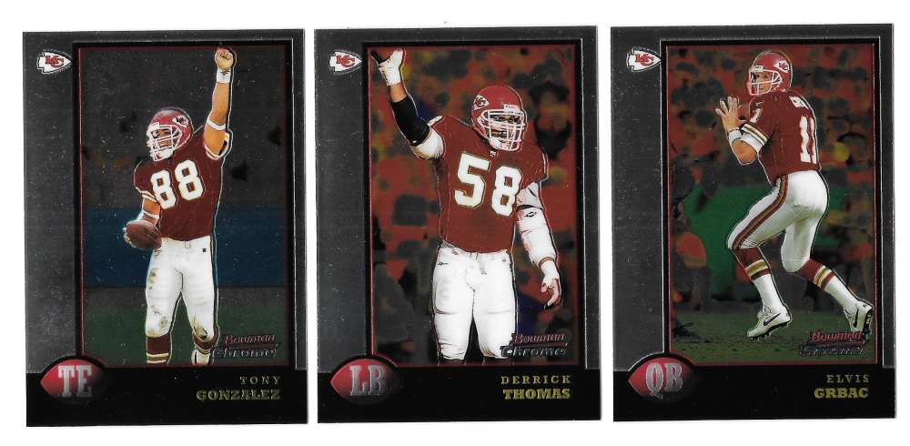 1998 Bowman Chrome Football - KANSAS CITY CHIEFS