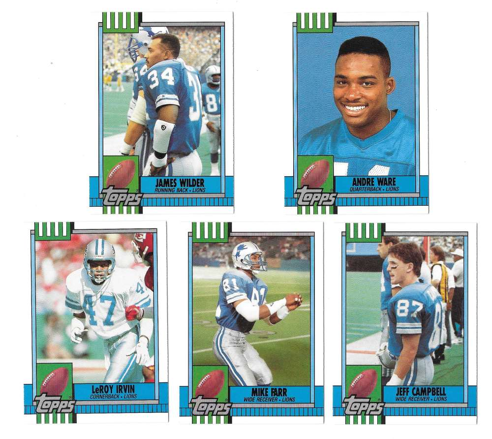 1990 Topps Traded Football - DETROIT LIONS