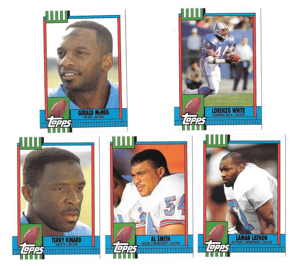 1990 Topps Traded Football - HOUSTON OILERS