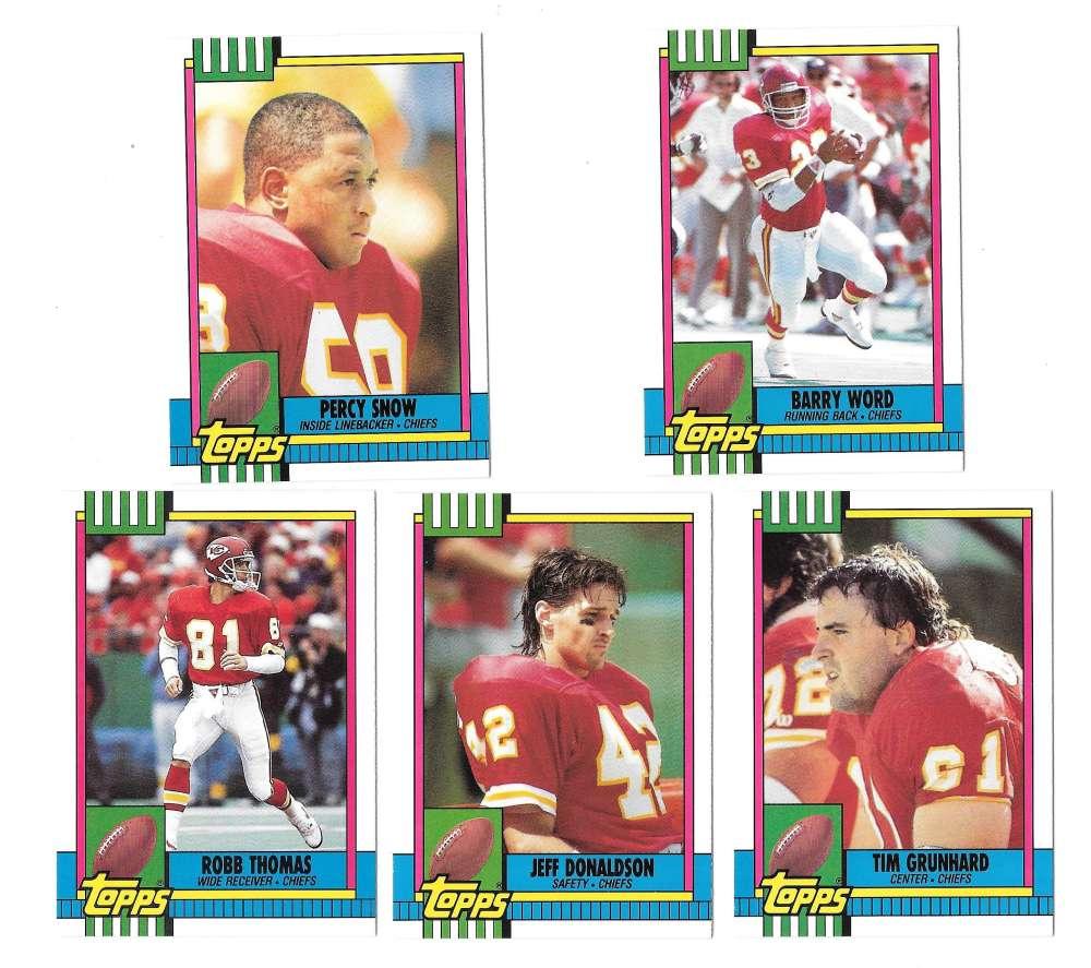 1990 Topps Traded Football - KANSAS CITY CHIEFS