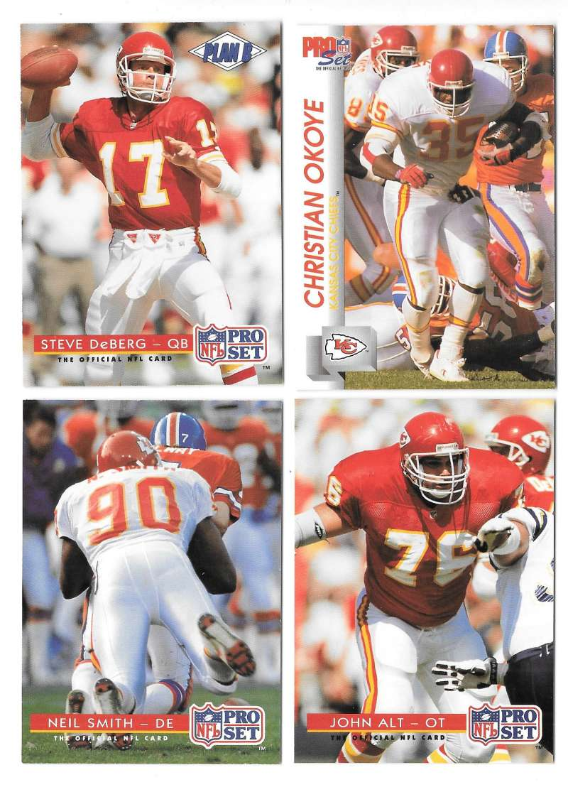 1992 Pro Set Football Team Set - KANSAS CITY CHIEFS