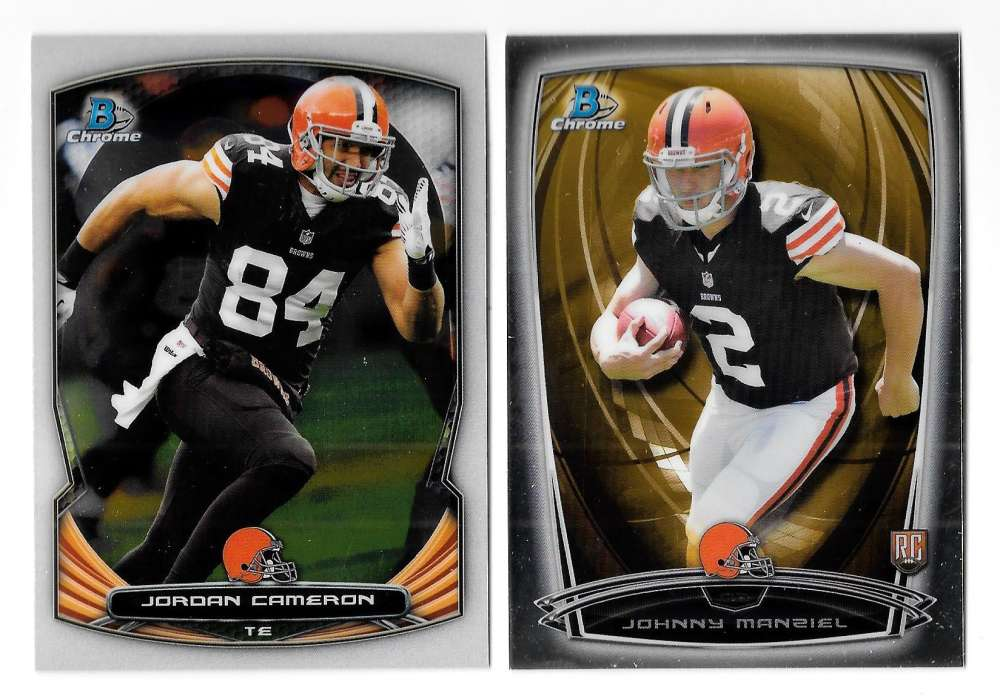 2014 Bowman Chrome Football Team Set - CLEVELAND BROWNS