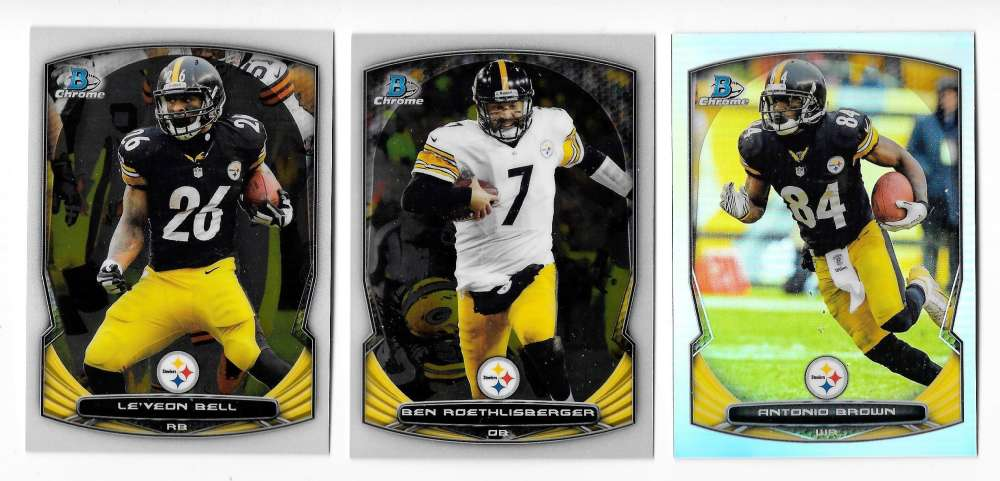 2014 Bowman Chrome Football Team Set - PITTSBURGH STEELERS