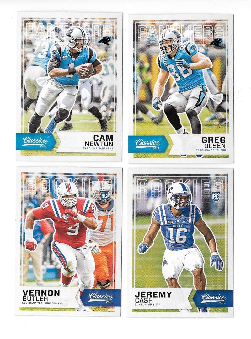 2016 Panini Classics (1-300) Football Team Set - CAROLINA PANTHERS