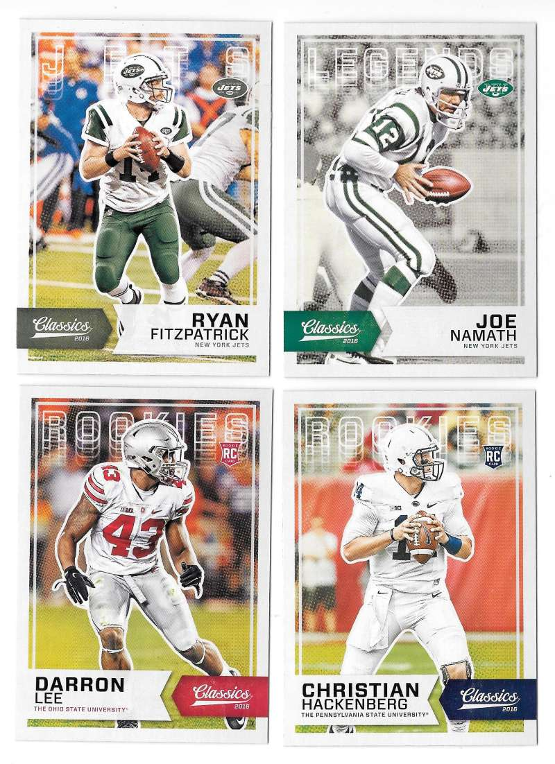 2016 Panini Classics (1-300) Football Team Set - NEW YORK JETS